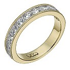 Vow 9ct yellow gold one carat beaded eternity ring - Product number 1309390