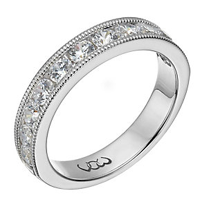 Vow palladium 950 one carat beaded eternity ring - Product number 1309536