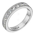 Vow 18ct white gold one carat beaded eternity ring - Product number 1309676