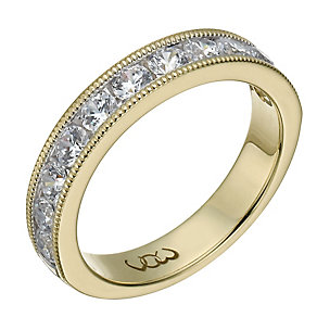 Vow 18ct yellow gold one carat beaded eternity ring - Product number 1309803