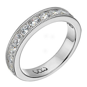 Vow platinum one carat beaded eternity ring - Product number 1309935