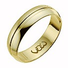 Vow 18ct yellow gold 6mm polished groove band ring - Product number 1310216