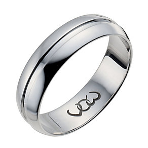 Vow Platinum 6mm polished groove band ring - Product number 1310348