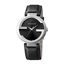 Gucci Interlocking G men's black strap watch extra large - Product number 1310739