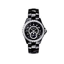 Chanel J12 Moonphase Black Ceramic Watch Diamond Set - Product number 1311700