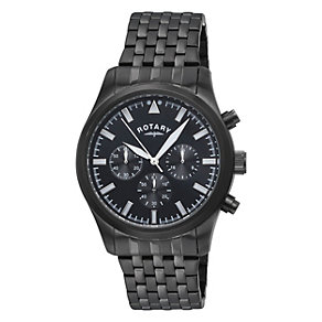 Rotary men's black ion-plated bracelet watch - Product number 1311743
