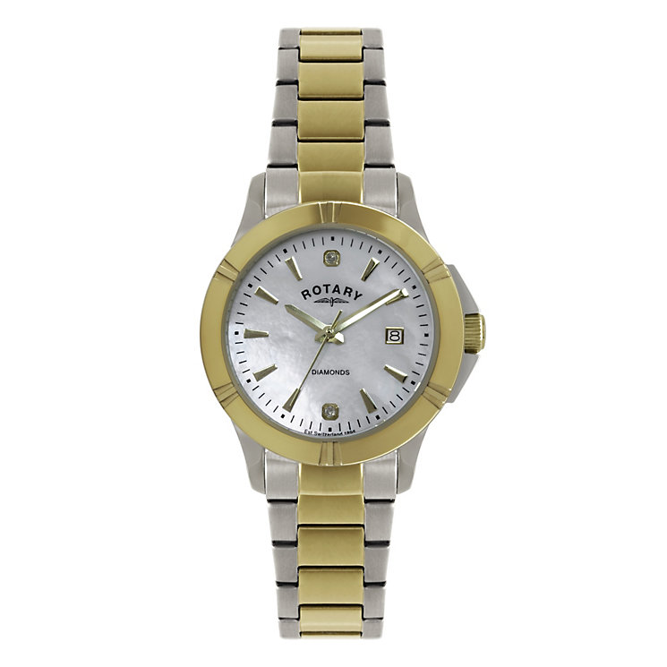 Rotary ladies' two tone diamond bracelet watch - Product number 1311778