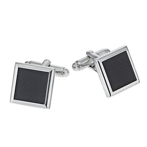 Black Rhodium Square Cufflinks - Product number 1311832