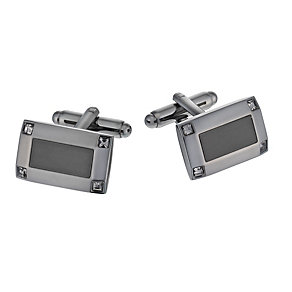 Ion Plated Crystal Set Tonal Cufflinks - Product number 1311956
