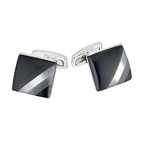 Square Chalk Semi Precious Cufflinks - Product number 1311999