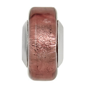 Charmed Memories Pink Murano Glass Spacer Bead - Product number 1313525