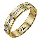 Vow 18ct gold 1/4 carat diamond set 5mm ring - Product number 1316540