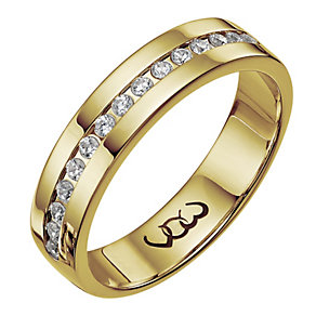 Vow 18ct gold 0.25ct diamond set 5mm ring - Product number 1316540