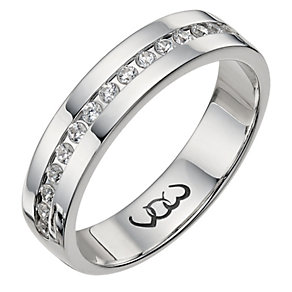 Vow Platinum 0.25ct diamond set 5mm ring - Product number 1316877