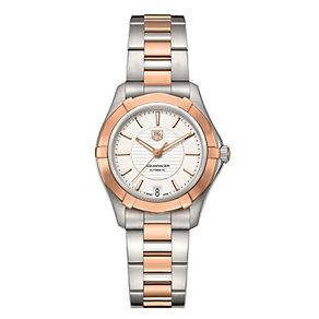 TAG Heuer Aquaracer ladies' 34mm two colour bracelet watch - Product number 1317377