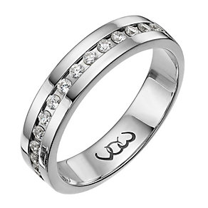 Vow 18ct white gold 0.33ct diamond set 5mm ring - Product number 1317385