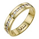 Vow 18ct gold 0.33ct diamond set 5mm ring - Product number 1317539