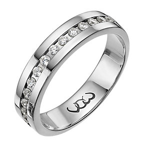 Vow Platinum 0.33ct diamond set 5mm ring - Product number 1317857
