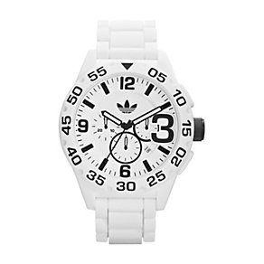 Adidas Newburgh Men's White Silicone Strap Watch - Product number 1318705