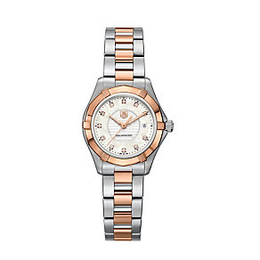 TAG Heuer Aquaracer ladies' two tone diamond bracelet watch - Product number 1320459
