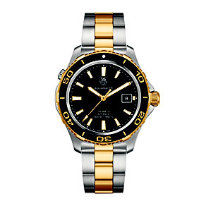 TAG Heuer Aquaracer men's two colour bracelet watch - Product number 1320734