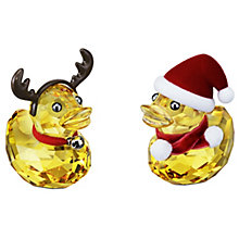 Swarovski Crystal Happy Duck Santa & Reindeer - Product number 1320890