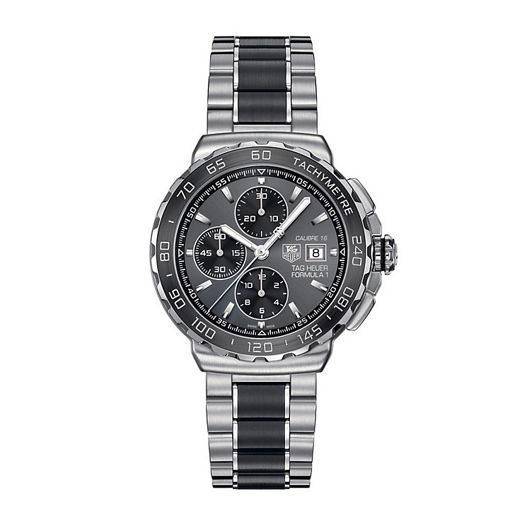 TAG Heuer F1 men's steel & black ceramic bracelet watch - Product number 1321617