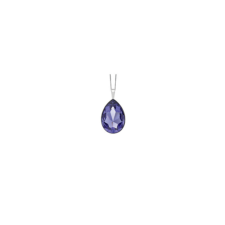 Radiance Tanzanite Swarovski Crystal Element Drop Pendant - Product number 1322516