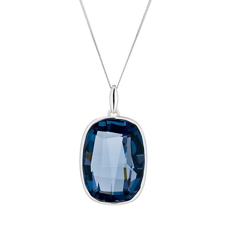 Radiance Denim Blue Swarovski Crystal Element Drop Pendant - Product number 1322559