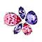 Radiance Tanzanite & Rose Swarovski Element Flower Brooch - Product number 1322613
