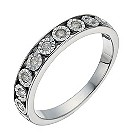 9ct white gold illusion set 15 point diamond eternity ring - Product number 1322877