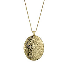 Together 9ct Yellow Gold & Silver Bonded Oval Floral Locket - Product number 1324888