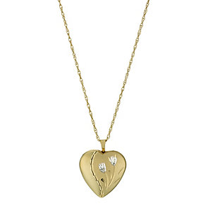 Together 9ct Yellow Gold & Silver Bonded Heart Locket - Product number 1324896