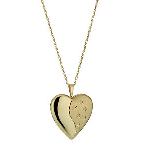 Together Bonded Silver & 9ct Gold Heart Locket - Product number 1324918