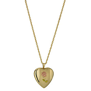 Together Silver & 9ct Gold Bonded Rose Heart Locket - Product number 1324926