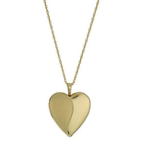 Together Silver & 9ct Yellow Gold Bonded Heart Locket - Product number 1324934