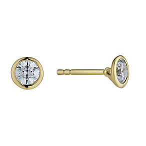 Lumiere 18ct Gold-Plated Swarovski Zirconia Stud Earrings - Product number 1325159