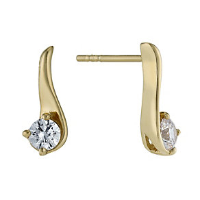 Lumiere 18ct Gold-Plated Swarovski Zirconia Stud Earrings - Product number 1325167