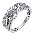 Sterling silver 20 point diamond crossover ring - Product number 1325388