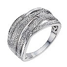 Sterling silver 1/3 carat diamond multi-strand ring - Product number 1329480