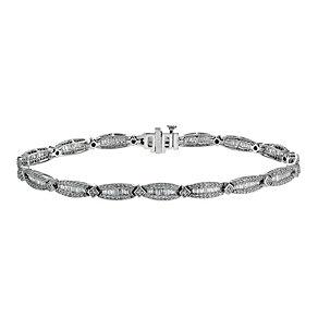 9ct white gold 2 carat diamond tennis bracelet - Product number 1332082