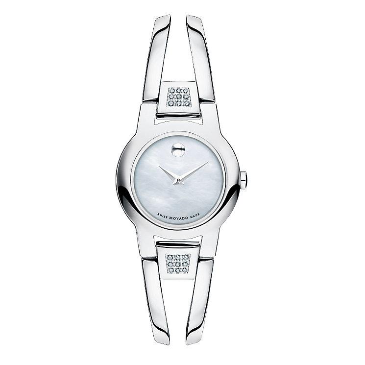 Movado Amorosa ladies' steel diamond bracelet watch - Product number 1334131