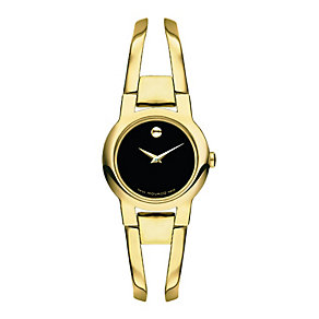 Movado Amorosa ladies' black dial gold-plated bracelet watch - Product number 1334158