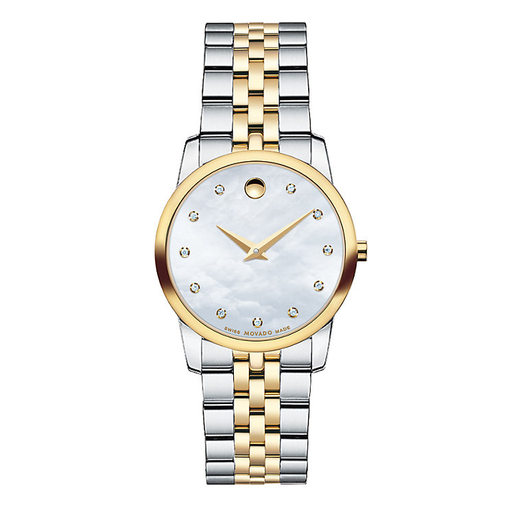 Movado Museum ladies' two colour diamond bracelet watch - Product number 1334182