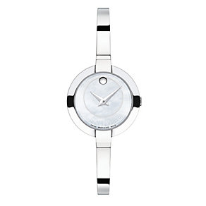 Movado Bela ladies' stainless steel half bangle watch - Product number 1334204