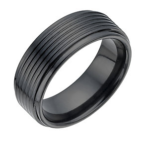Black Ceramic Groove Ring - Product number 1334433