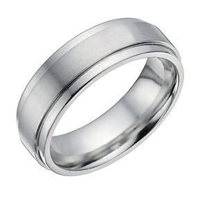 Cobalt 7mm Matt & Polished Ring - Product number 1334972