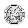 9ct White Gold Illusion Diamond Single Stud Earring - Product number 1335308