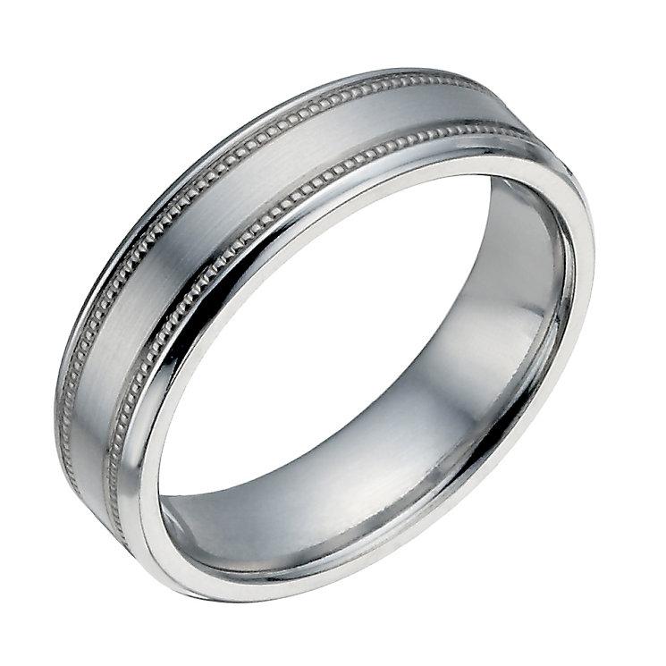 Cobalt 6mm Flat Double Milgrain Ring - Product number 1335367