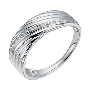 Silver & Diamond Ring - Product number 1335774